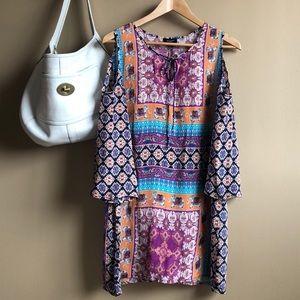 Tolani tunic cold shoulder dress S